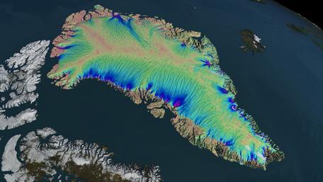 Greenland ice flow