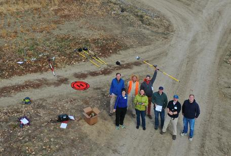 group picture from UAV