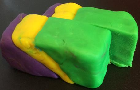 Play-Doh model of a dextral fault