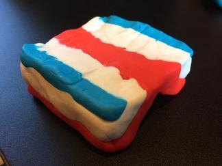 Play-Doh model, upright anticline