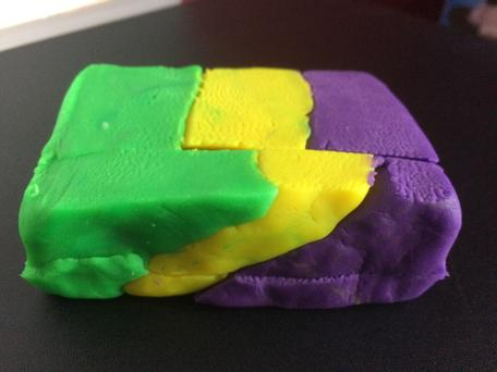 Play-Doh model of reverse fault + erosion