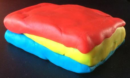 Play-Doh model of a sedimentary wedge