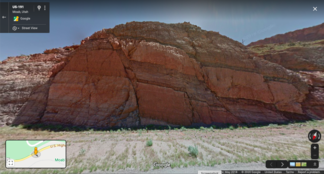 Faults exposed in road cut just outside of Arches National Park