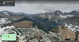 Glacial valley and lake, Glacier National Park