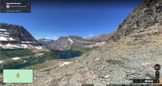 Glacial valley and tarn, Glacier National Park