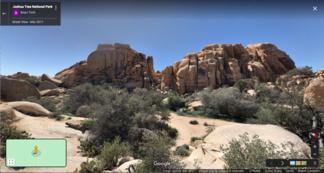 Weathered rocks in Joshua Tree National Park