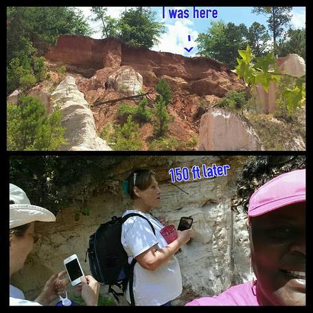 Sabrina Walthall, Jane Metty, Colleen Stapleton at Providence Canyon, GA.