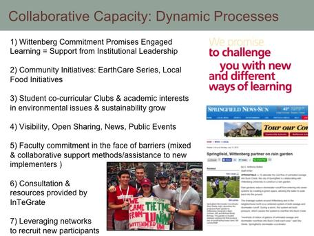 Collaborative capacity grows through dynamic processes
