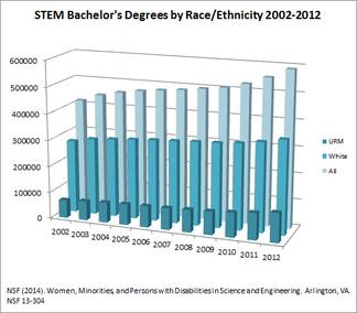 STEM BS Degrees by Race/Ethnicity 2002-12