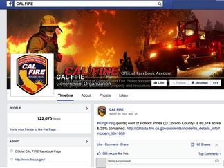 CalFire Facebook Page