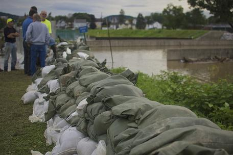 Community sandbags for flooding