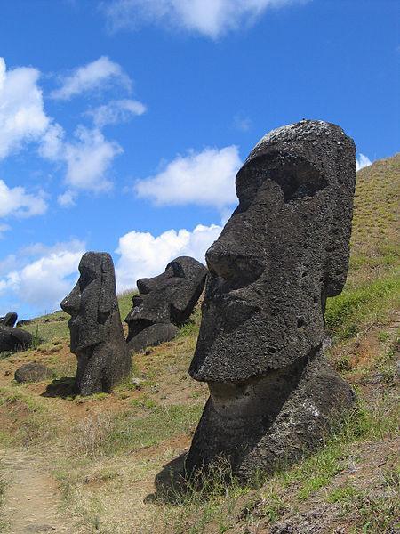Easter Island stone heads