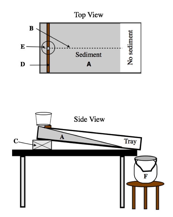 Schematic View Of The Stream Table Setup