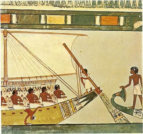 Ancient Egyptian sailboat