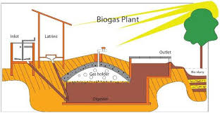 Biogas digester for use at home or on a farm