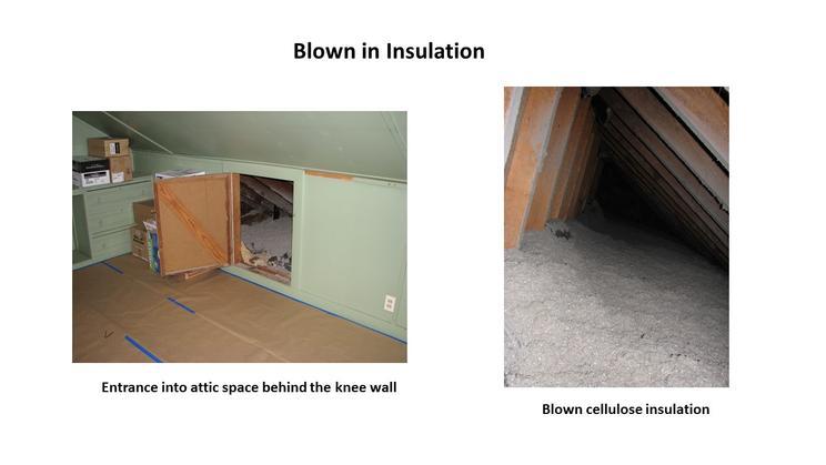 Blown cellulose insulation