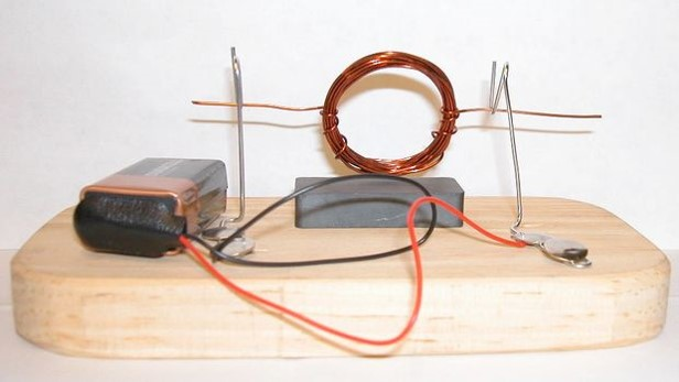 Electricity work and power for How does a simple electric motor work