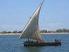 North African dhow sailboat