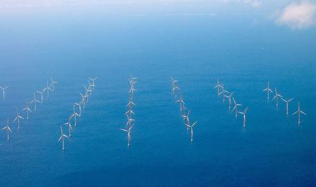 Offshore wind farm in the Baltic Sea
