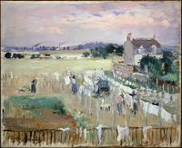 Painting of laundry on the line