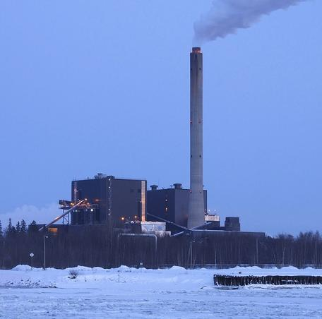 Peat-burning power plant in Finland