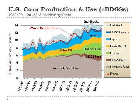 Production and use of corn in US