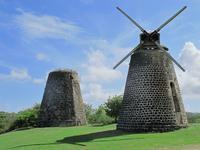 Ruins of sugar mills in Antigua