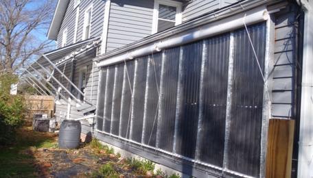 Solar furnace wall