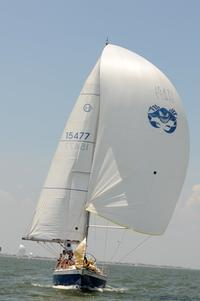 Spinnaker creating drag to sail downwind