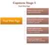 Capstone Stage 5 Diagram of Final Web Page components, as explained in caption.