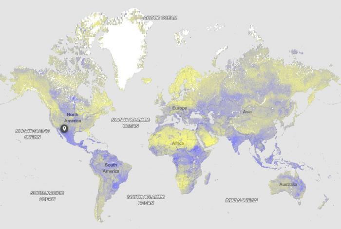 example of a map from the SoilGrids data portal