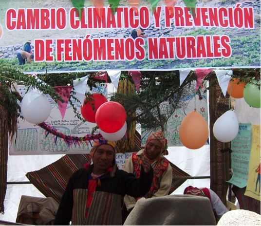 "Farmer-educator with a Peruvian NGO at a ""knowledge fair"""