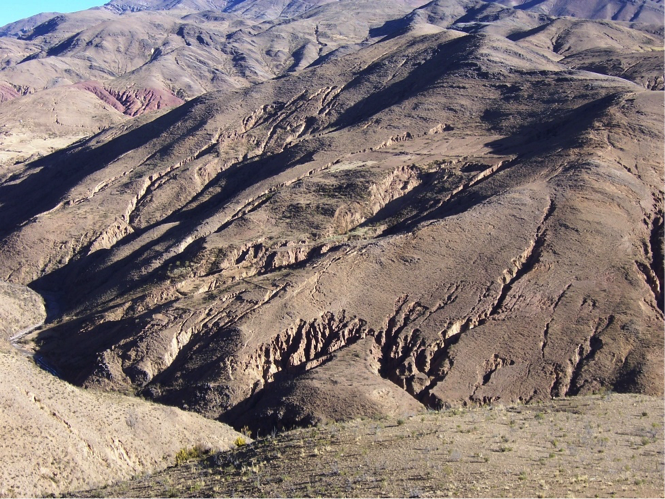 Photo of an Andean agroecosystem in Bolivia during the long dry season
