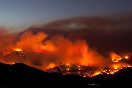 Fourmile fire. Photo by Patrick Cullis
