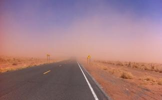 Dust storm near Winslow, Arizona
