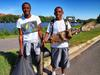 Students cleaning up along Anacostia River