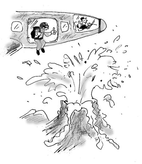 Hazard or risk cartoon