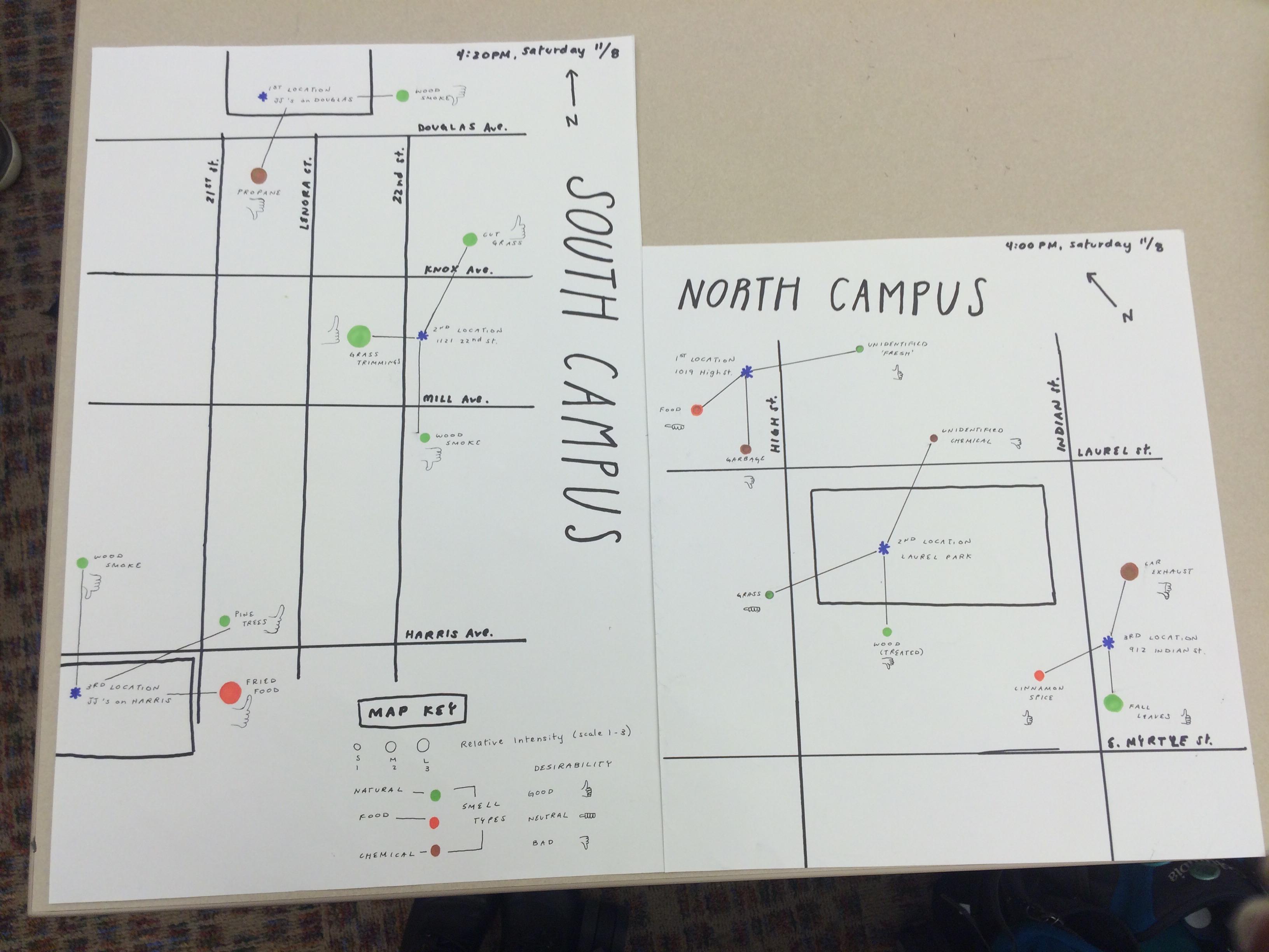 Sensory Map of WWU campus