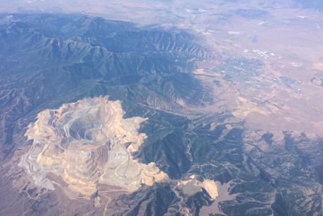 Aerial photo of Bingham Canyon Mine
