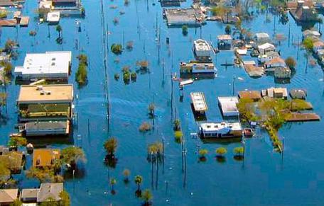 Flooding from Hurricane Katrina