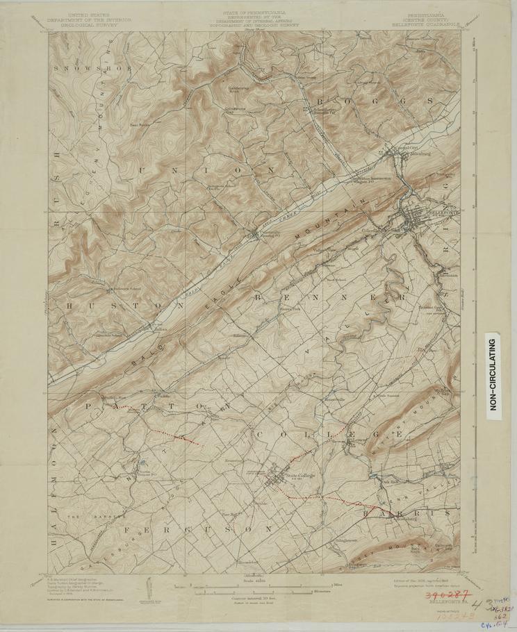 Bellefonte Quadrangle map