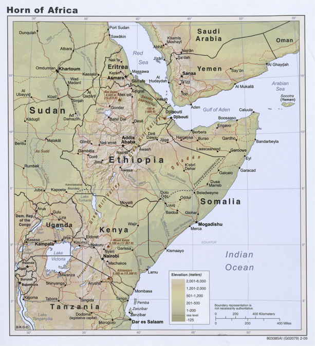 The Nile River Conflict - World map showing river nile
