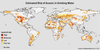 Map showing estimated risk of arsenic in drinking water around the world.