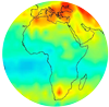 Africa CO2 map