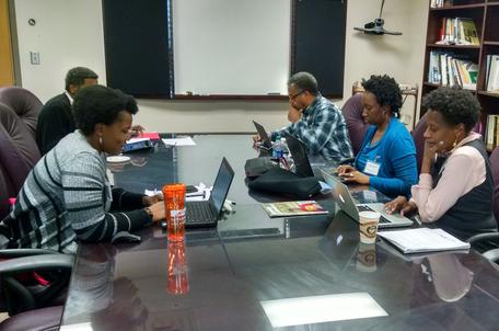 Strengthening Geoscience Competency for HBCU Pre-Service Teachers Workshop small-group discussion