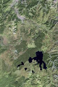 Satellite image,  YNP