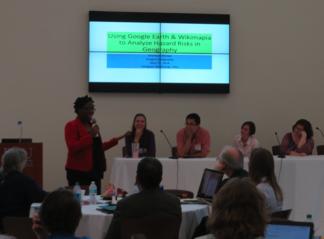 Charlene Sharpe presents Using Google Earth & Wikimapia to Analyze Hazard Risks in Geography