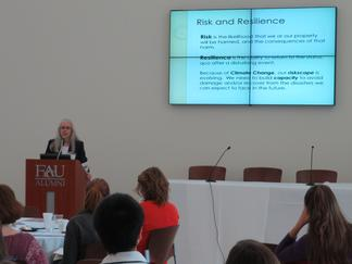 Nancy Gassman speaks about sea level rise in southeast Florida