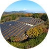 solar plant in japan circle