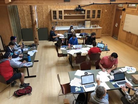 Workshop participants at work